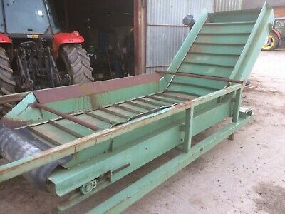 Hopper conveyor elevator  1200mm wide belt electric 3 phase motor