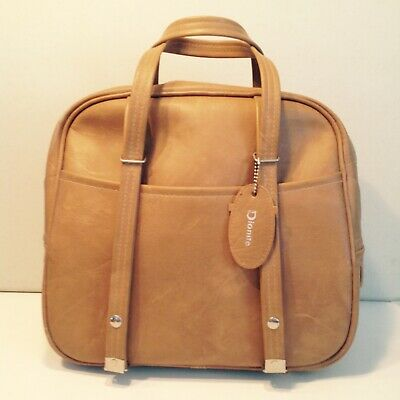 Vintage 1970's Dionite Tan Tote Bag Carry On Extendable Handles VG Condition