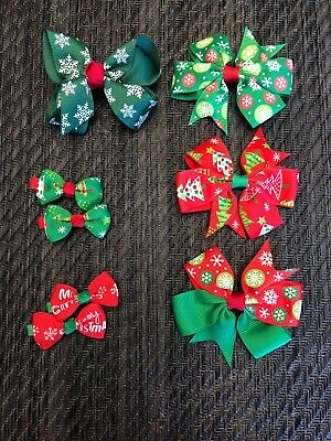 Christmas Hair Bows For Toddlers.Christmas Bow Hair Clips Baby Toddler Girls Christmas Hair