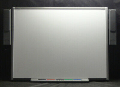"""SmartBoard SB680 77""""  Interactive White Board complete with Pen Tray & Speakers"""