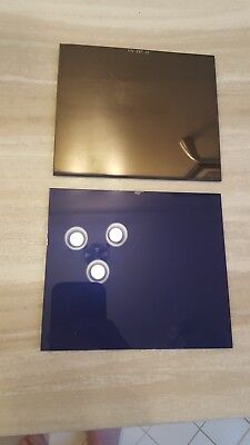 ULTRA BLUE 2 pc Gold lens set!! Amazing clarity & color Large 4.5x 5.25. Sh 10