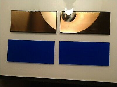 ULTRA BLUE -TWO SETS!! 2 pc Gold lens set!! Amazing clarity &color- 2x4.25 sh 10