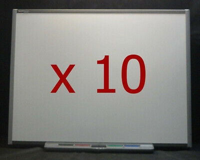 """10 x SmartBoard SB680 77""""  Interactive White Boards complete with Pen Trays"""