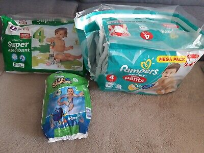 Lot De 71 Couches taille 4 Pampers,Huggies et U