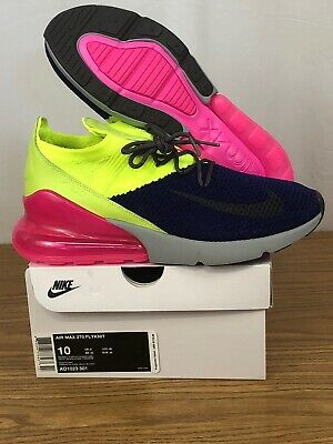 huge selection of bdb4b 61fca Nike Air Max 270 Flyknit Size 10 Multi-Color Pink Running Shoes AO1023-