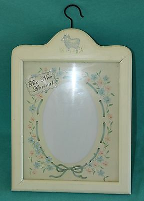 "2004 Tender Heart ""The New Arrival"" Baby Announcement Picture Frame Wall Hanging"