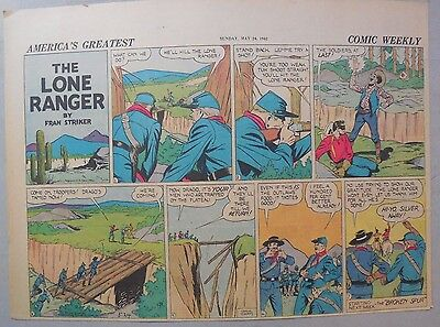 Lone Ranger Sunday Page by Fran Striker and Charles Flanders from 5/24/1942