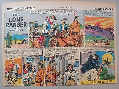Lone Ranger Sunday Page by Fran Striker and Charles Flanders from 6/28/1942