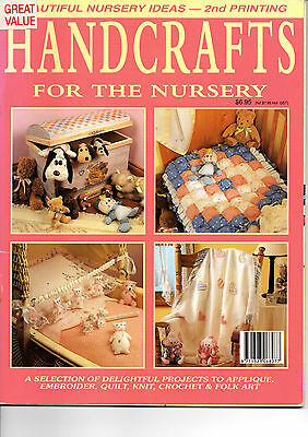 Handcrafts for the Nursery - applique, embroider, quilt, knit, crochet & folkart