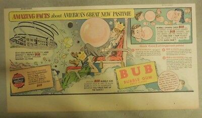 Bub Bubble Gum Ad: Americas New Pastime! from 1930's-40's: 7.5 x 15 inches