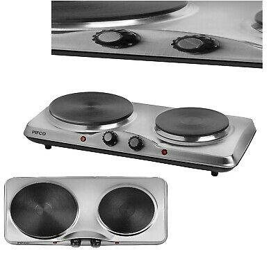 Pifco,Stainless Steel Double Boiling Ring, Adjustable Thermostat, 1500 W,