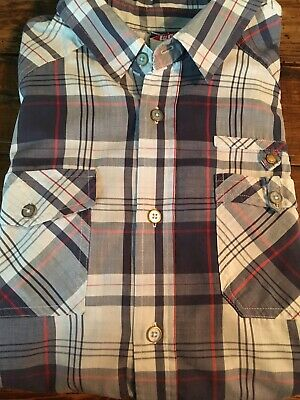 1d27c1b630 LEE COOPER Men s Short Sleeve Shirt Check Size L BLUE RED   WHITE Western  style