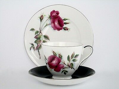 Set of 4, Fascination By Roslyn Fine Bone China England Tea Cup And Saucer Set
