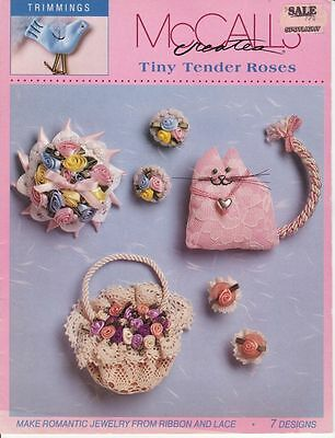 McCalls Trimmings Roses jewelry ribbon lace 7 designs