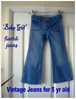 Vintage Childrens Jeans (#720) 5-yr old Girl Trousers Flared Denims Fancy Dress