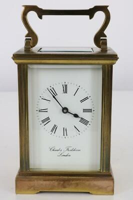 CARRIAGE CLOCK by CHARLES FRODSHAM, LONDON serviced and running beautifully KEY