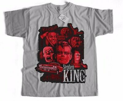 Stephen king IT Christine Shining Horror Sci Fi Classic Retro Film Movie T Shirt