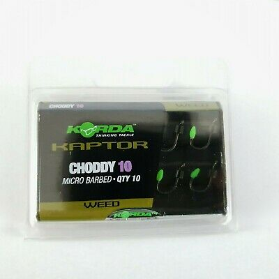 2 x Pkts of Korda Kaptor Choddy Hooks Size 10 - Carp Fishing - course - Weed -