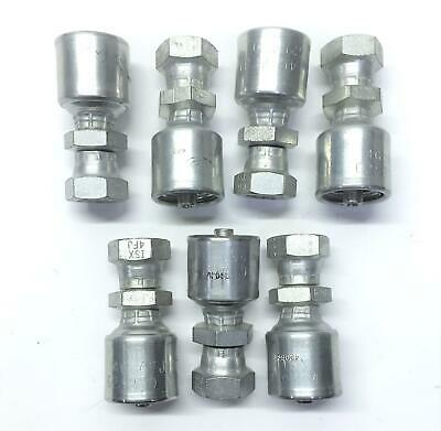 Gates Crimp-On End Hydraulic Fitting 4G-4FJISX [Lot of 7] NOS