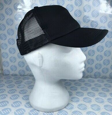 Mens Classic Trucker Mesh Hat Plain Baseball Cap Curved Summer Adjustable Unisex