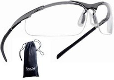 Bollé - Bolle Safety Glasses Contour Clear - Metal Frame #40049 - With Pouch