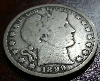 Better Date 1899 BARBER Half Dollar Coin Big 90% SILVER P-Mint 50C Collection