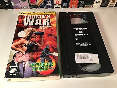 * Troma's War 80's Cult Action Comedy VHS 1988 Carolyn Beauchamp Troma Video