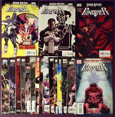 Punisher #1 to #16 + annual + one shot complete series (Marvel 2009) 18 issues.