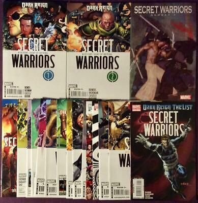Secret Warriors #1 to #17 + one shot (Marvel 2009) 18 issues.