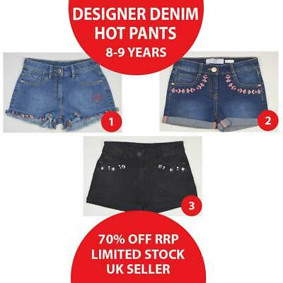 Girls Denim Hot Pants Shorts 8-9 Years Brand New MORE THAN 50% OFF(HT8-9)