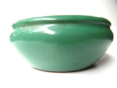 Vintage~Arts Crafts~Misson~Green Glaze~Pot~Planter~Heavy Bowl Dish~Marked 1937~
