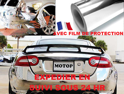 Film chrome argent thermoformable film covering 152 x 100 cm