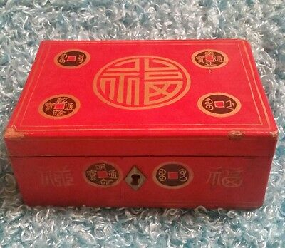 Antique Lacquer Jewelry boxMade In China Trinket