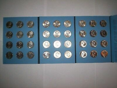 Complete Set Uncirculated Kennedy Half Dollar Coins 2001 - 2018 in coin album!