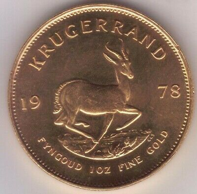 1 oz South African 1 Krugerrand Gold Coin - 1978