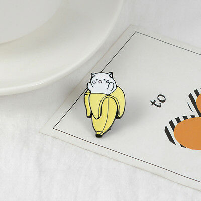 Banana Pattern Enamel Alloy Pins Brooch Clothing Jewelry Clothes Bag Badge LE