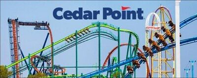 2 (TWO) Cedar Point Theme Park e-Tickets (for Child or Adult Admission)