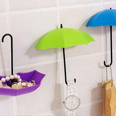 Colorful Umbrella Shape Wall Hook Key Glasses Wallet Hairpin Holder Organizer LE