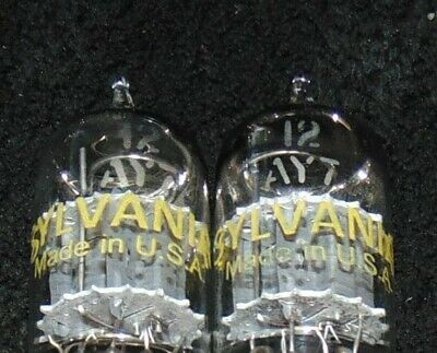 NOS PAIR Sylvania Brand General Electric 12ay7 Vintage 1960 tube's Excellent New