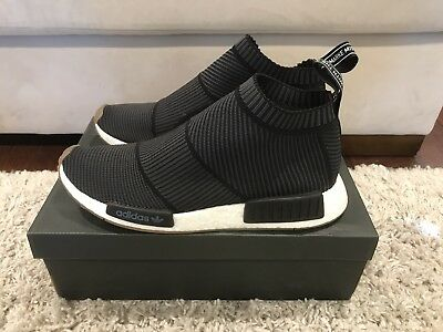 ADIDAS NMD CITY Sock Primeknit White Gum size 10 BA7208 CS1