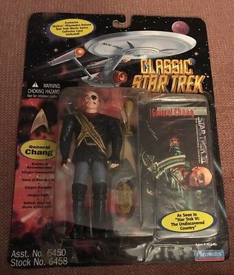 Classic Star Trek Movie Series General Chang Action Figure & Collector Card NIP
