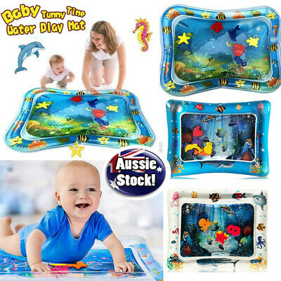 Inflatable Water Play Mat Infants Baby Toddlers Perfect Fun Tummy Time Play Fun