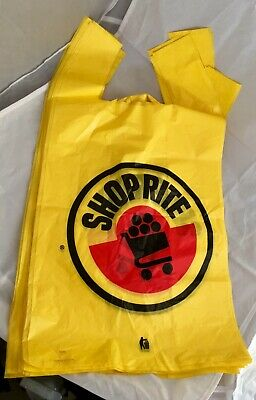 Vintage 90s Shop Rite Supermarkets Plastic Shopping Bag Lot13 Grocery Store Rare