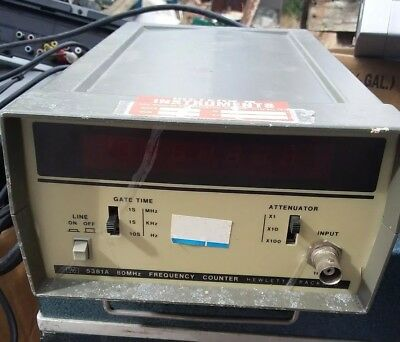 HP 5381A Frequency Counter 80MHz - Working