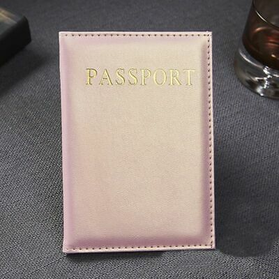Passport Cover Casual PU Leather Travel Accessories Men Women ID Card Holder 1Pc