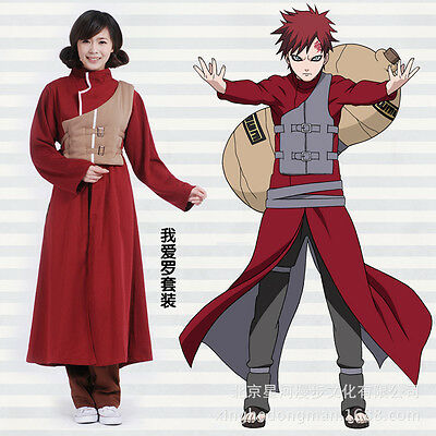 Naruto Gaara Halloween Kimono Whole Suit Cosplay Costume X001