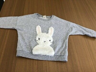 Cotton On Kids Grey Bunny Jumper Size 3
