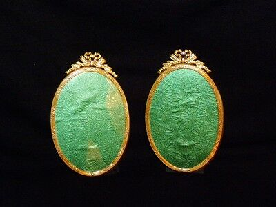 Pair Of Oval Antique French  Frame, Ormolu Louis XVI Style. Napoleon III