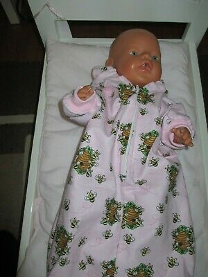 Sleeping Bag with Hood suitable for Baby Born,Cabbage Patch,Our Generation Doll