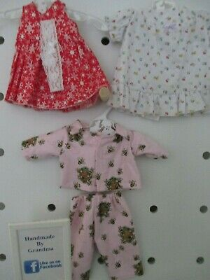 Pyjamas,Nighty, Dress & HB  suitable for Baby Born, 3 Sets  SPECIAL FREE POST